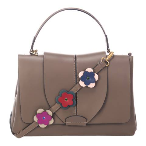 Ane & Elle Taupe Top Handle Leather Bag