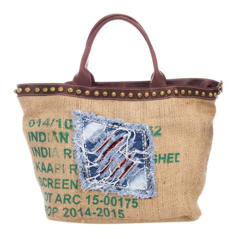 Giorgio Costa Natural Top Handle Canvas Bag