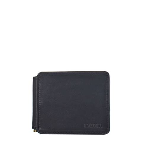 Medici of Florence Black Leather Money Holder