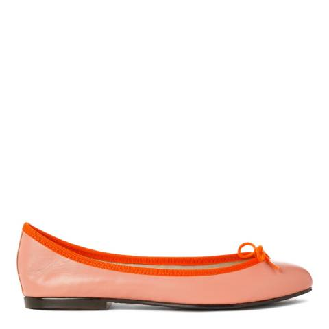 French Sole Orange Leather India Flats