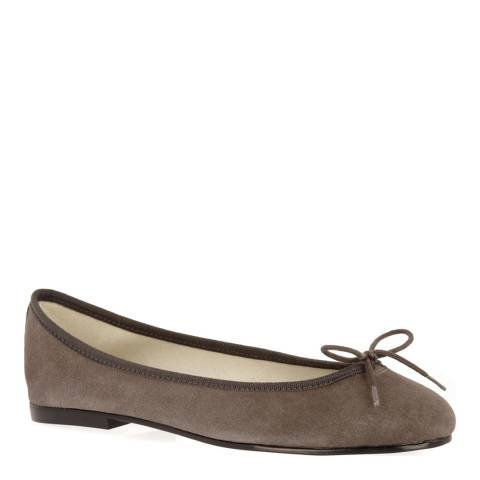 French Sole Grey Suede India Flats