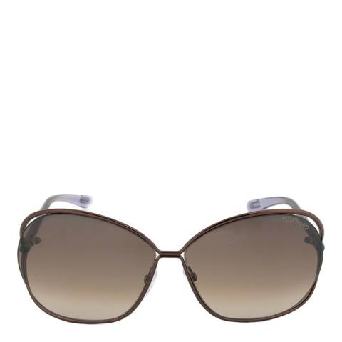Tom Ford Womens Brown / Brown Gradient Sunglasses 66mm