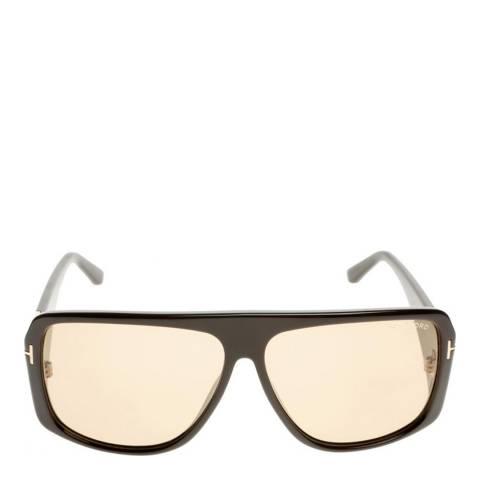Tom Ford Women's Shiny Dark Brown Sunglasses 60mm