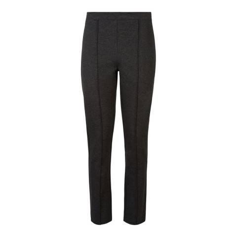 Jaeger Grey Ponte Pintuck Trousers