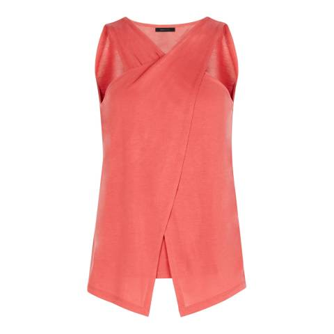 BCBG Coral Knit Cross Over Tank