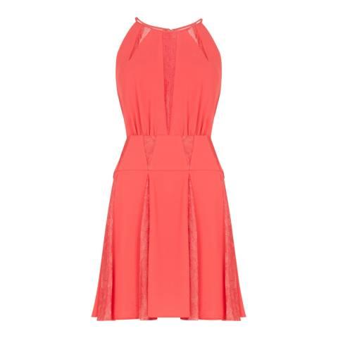 BCBG Lipstick Red Woven Evening Dress