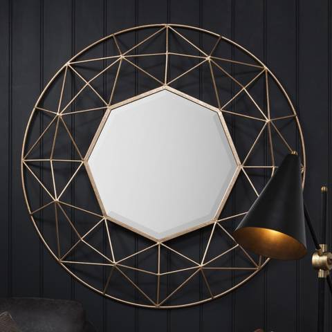 Gallery Gold Andromeda Wall Mirror 89x89cm