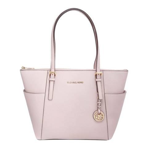 Michael Kors Soft Pink Jet Set Leather Tote Bag