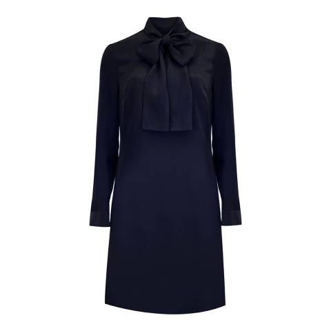 Ted Baker Dark Blue Yanka Silk Tunic Dress