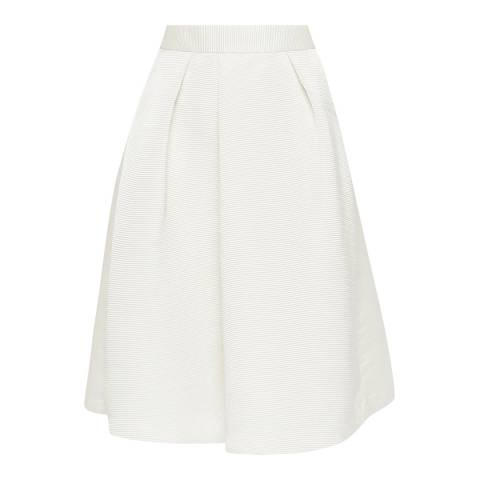 Ted Baker Ivory Zelida High Waisted Midi Skirt