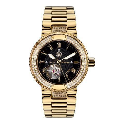 Mathis Montabon Women's Black and Gold Stainless Steel Watch