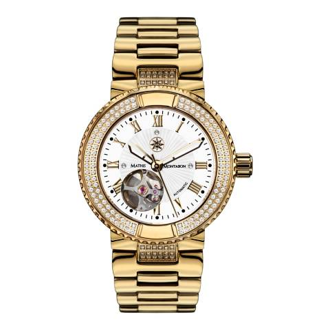 Mathis Montabon Women's White and Gold Stainless Steel Watch