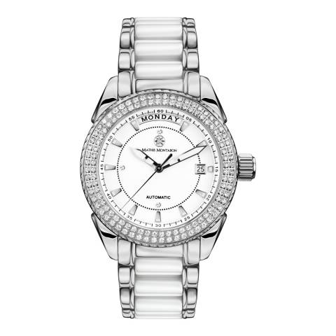 Mathis Montabon Womens White and Silver Stainless Steel Watch