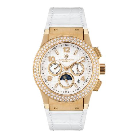 Mathis Montabon Women's Gold and White Leather Watch
