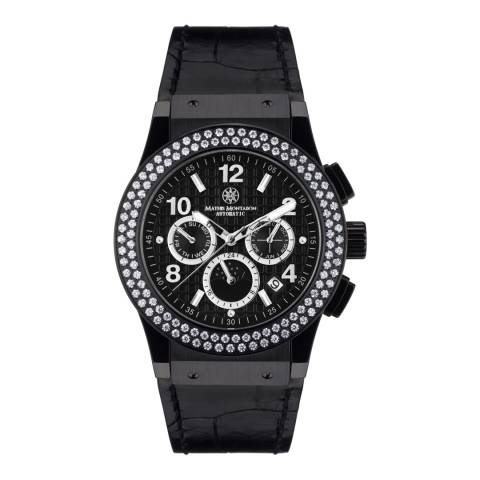 Mathis Montabon Women's Silver and Black Leather Watch