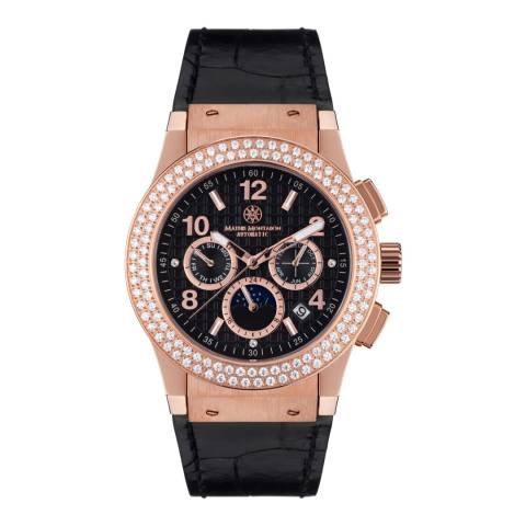 Mathis Montabon Women's Rose Gold and Black Leather Watch