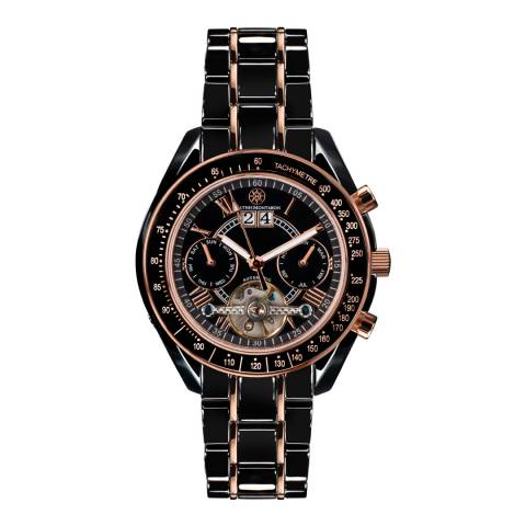 Mathis Montabon Women's Rose Gold and Black Ceramic Watch