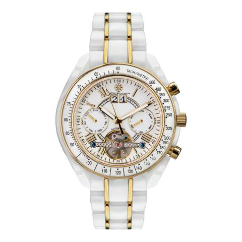 Mathis Montabon Men's Gold and White Ceramic Watch