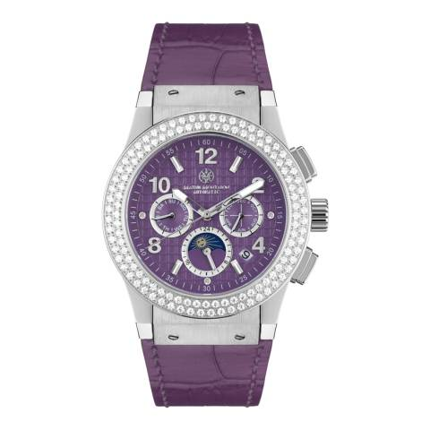 Mathis Montabon Women's Violet Leather Watch