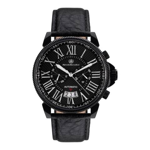 Mathis Montabon Men's Black on Black Leather Watch