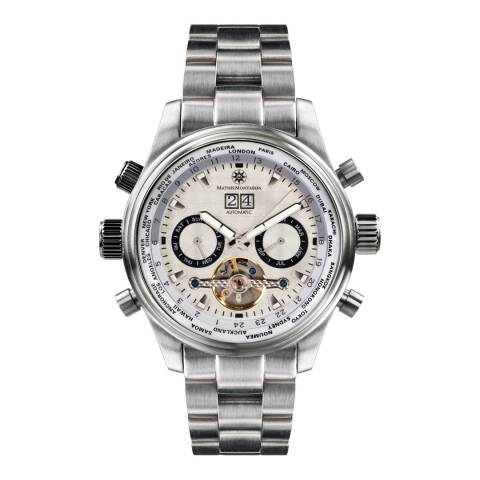 Mathis Montabon Men's Silver Stainless Steel Watch