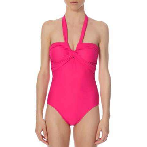 Seafolly Pink Criss-Cross Swimsuit