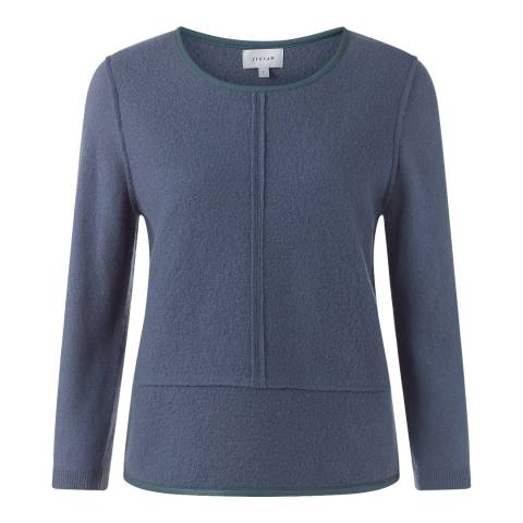 Jigsaw Wool Leather Trim Sweater