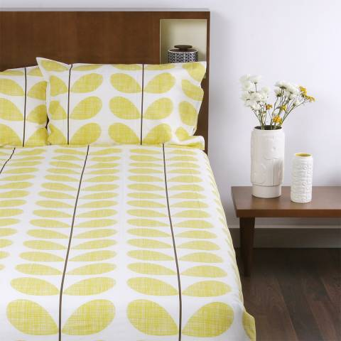 Orla Kiely Yellow Scribble Stem Single Duvet Cover