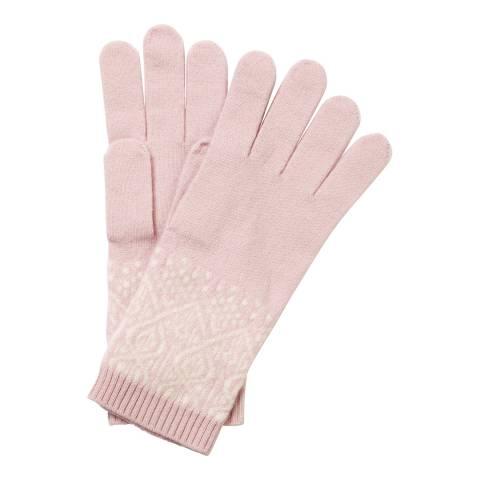 Pure Collection Opal/Soft White Cashmere Fairisle Glove