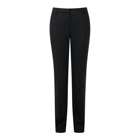 Pure Collection Black Slim Leg Wool Blend Trousers