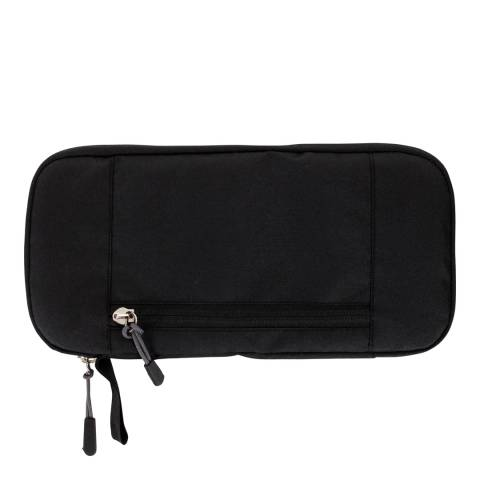 Travel One Black Travel Organiser