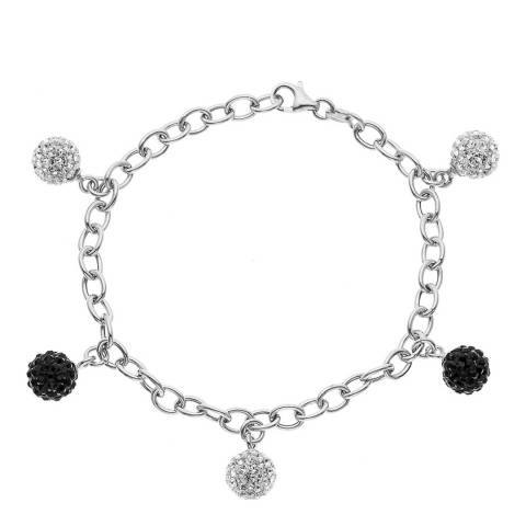 Wish List White/Black Crystal Bracelet