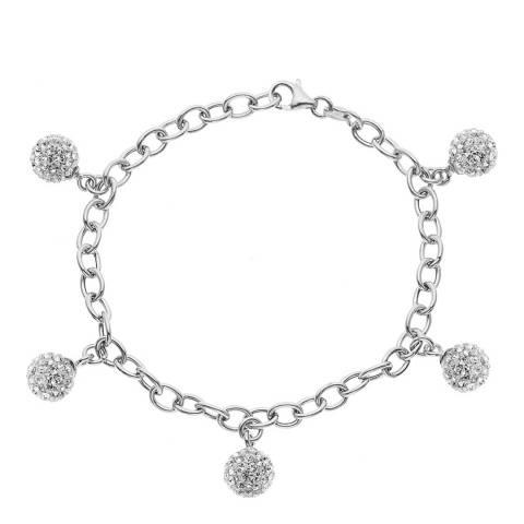 Wish List White Crystal Bracelet