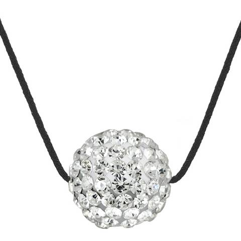 Wish List White/Black Crystal Necklace