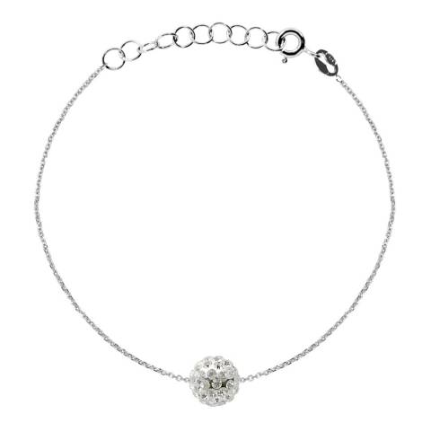 Wish List White Crystal Bracelet