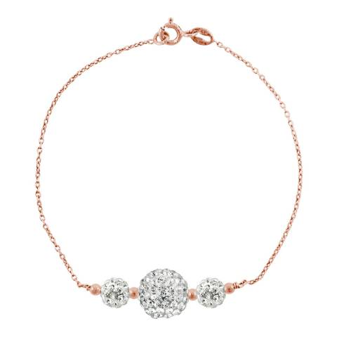 Wish List White/Pink/Gold Crystal Trilogy Bracelet