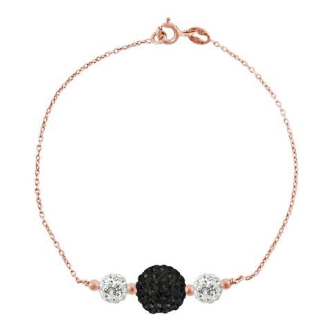 Wish List White/Black/Pink/Gold Crystal Bracelet