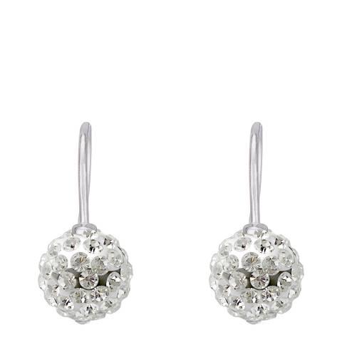 Wish List White Crystal Earrings