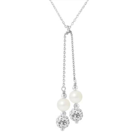 Wish List Natural White Freshwater Pearl Duo Necklace