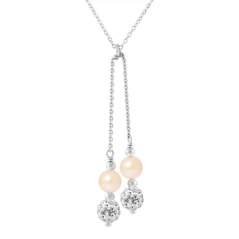 Deep Love Pink Freshwater Pearl Duo Necklace