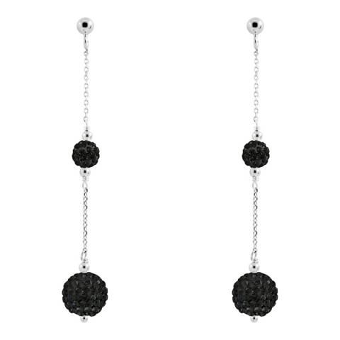 Wish List Black Crystal Earrings