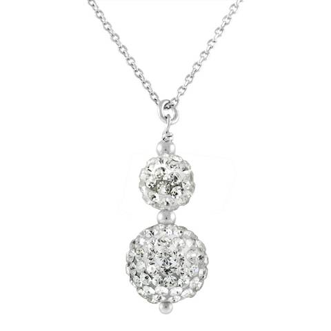 Wish List White/Silver Crystal Duo Necklace