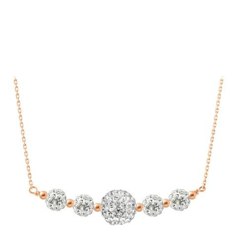 Wish List White/Pink/Gold Crystal Necklace