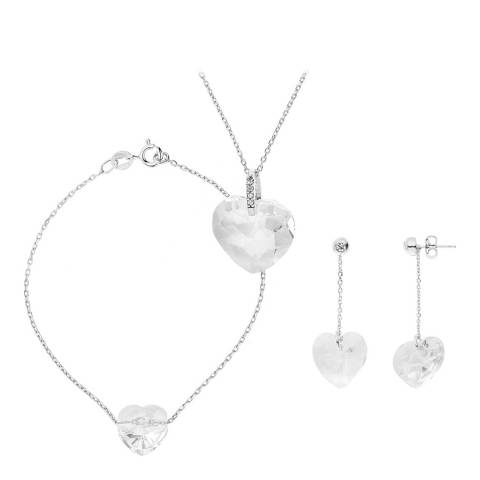 Wish List Silver Parure Heart Necklace