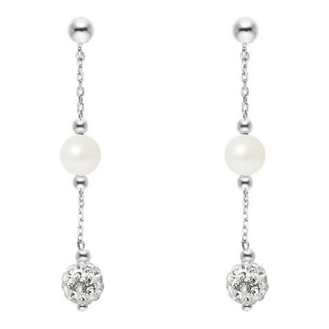 Wish List White Cultured Pearl Earrings