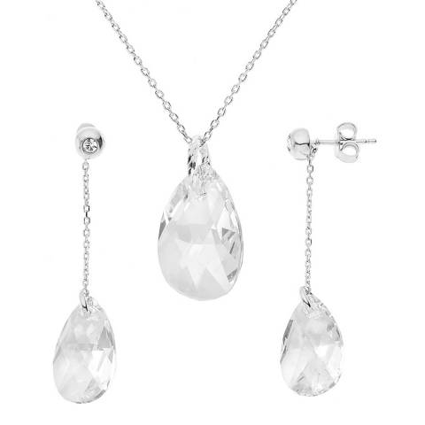 Wish List Silver Earrings and Necklace set