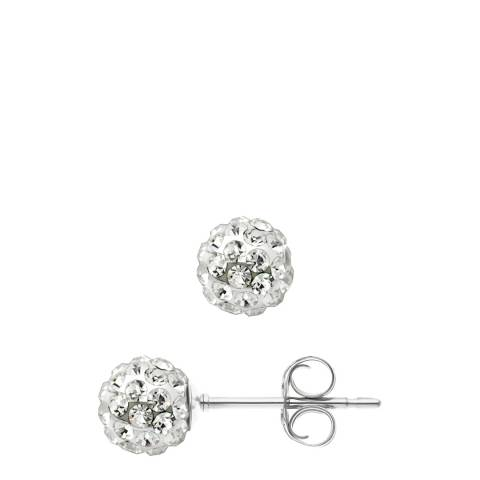 Wish List White Crystal Earrings