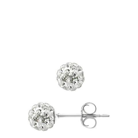 Deep Love White Crystal Earrings