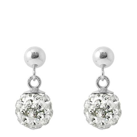 Deep Love White Crystal Earrings