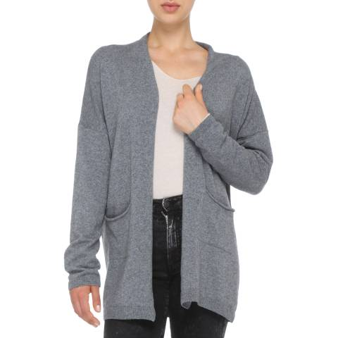 Love Cashmere Grey Cashmere Blend Maxi Cardigan